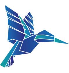 Origami hummingbird vector