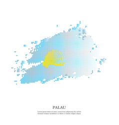 palau flag with halftone effect vector image