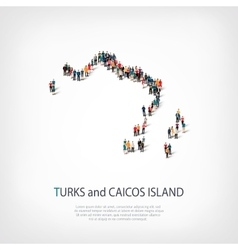 people map country Turks and Caicos Islands vector image