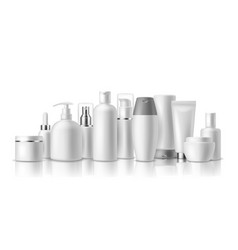 Realistic cosmetic mockups skin care cosmetics vector