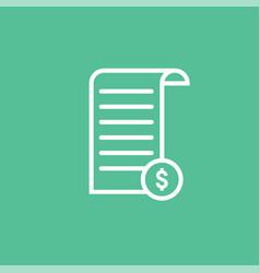 Receipt icon total bill purchase line icon vector