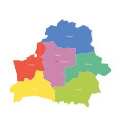 Regions belarus map regional country vector
