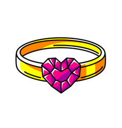 ring colorful cute cartoon icon vector image