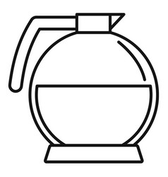 round coffee glass icon outline style vector image
