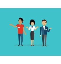 Sales Team People Group Flat Style vector image
