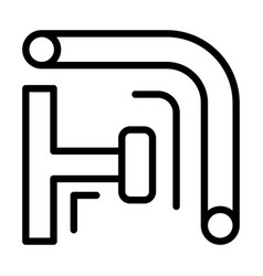 scaffold pipe icon outline style vector image