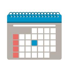 schedule calendar symbol vector image