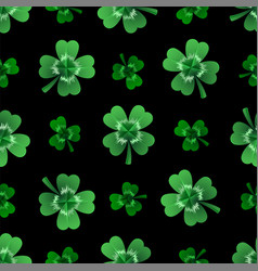 seamless clover leaves background for saint vector image