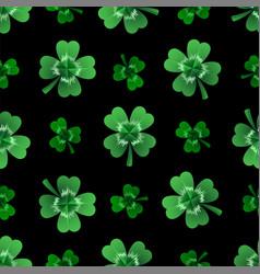 Seamless clover leaves background for saint vector