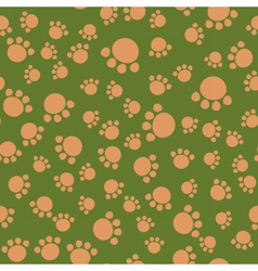 Seamless kids pattern bear paws vector image