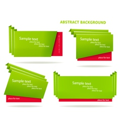 set stickers and banners vector image