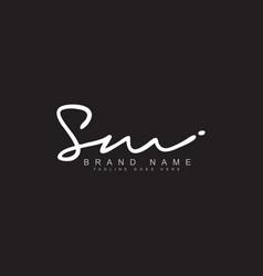 Sm signature logo - handwritten logo vector