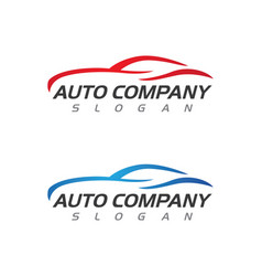 Speed auto car logo template icon design vector