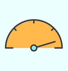 speedometer line icon simple minimal pictogram vector image