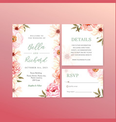 Summer flower concept design for wedding card vector