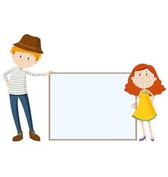 Tall man and short girl vector image