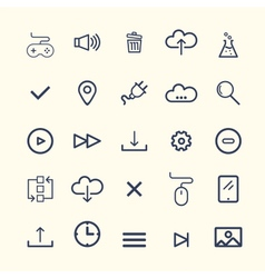 Technology Web Icon Set Design vector