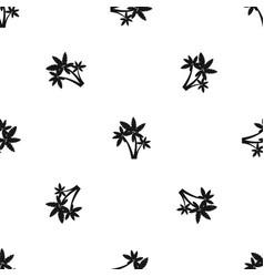 Three palm trees pattern seamless black vector