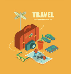 travel summer holidays vector image