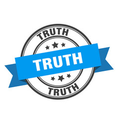 Truth label truth blue band sign truth vector