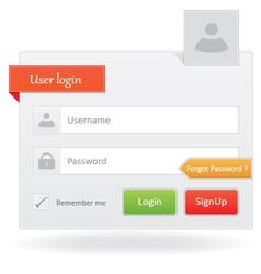 User login vector