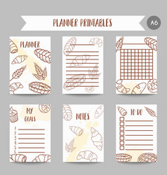 vintage notes with sketch bakery pastries sweets vector image