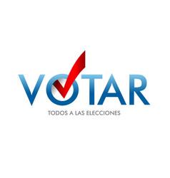Voting symbols design the word vote is vector