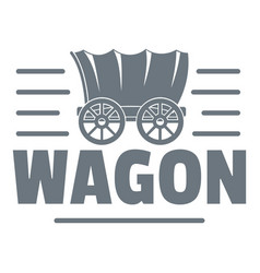 wagon logo vintage style vector image