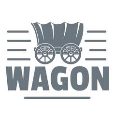 Wagon logo vintage style vector