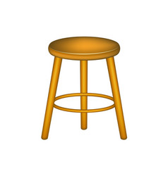 wooden stool in retro design vector image