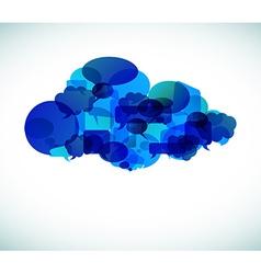 Cloud computing - vector image vector image