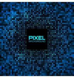 Abstract Pixel Blue Bright Glow Background vector image