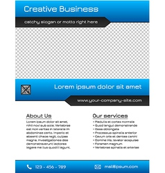 Business multipurpose flyer template - blue vector image vector image