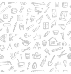 House repair seamless pattern for your design vector image