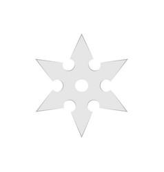 ninja star throwing shuriken weapon japanese vector image