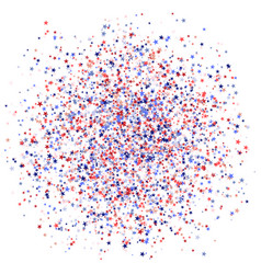 red blue and white stars like a spot national usa vector image