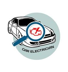 Car electrician logo template vector image vector image