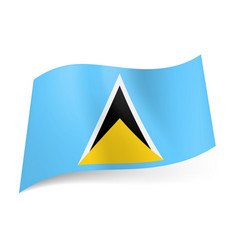 national flag of saint lucia white black and vector image vector image
