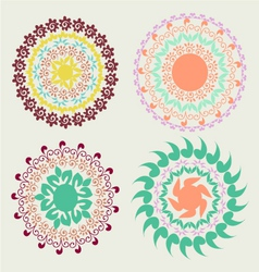 round pattern ornament vector image vector image