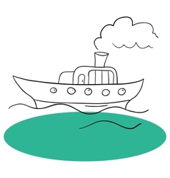 The ship and sea vector image vector image