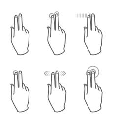 touchscreen gesture vector image vector image