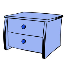blue chest icon cartoon vector image