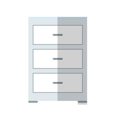 Drawer icon image vector