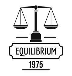 equilibrium logo simple black style vector image vector image