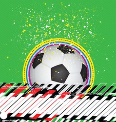 grunge design soccer background vector image