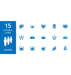 15 leader icons vector