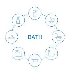 8 bath icons vector