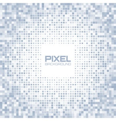Abstract blue gray light pixel background vector image