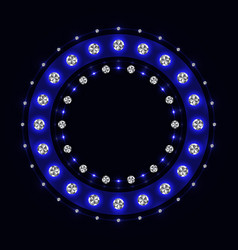abstract blue sparkling ring vector image