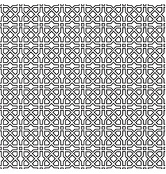 Abstract line ornament in muslim eastern style vector